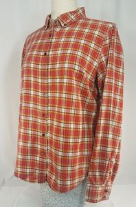 Women's J. Crew Red and Yellow Plaid Button Up Top